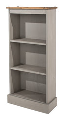 Corona Grey Low Narrow Bookcase