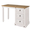 Image of Corino White Single Pedestal Dressing Table