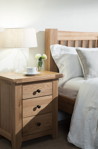 Montana Oak Bedside Table
