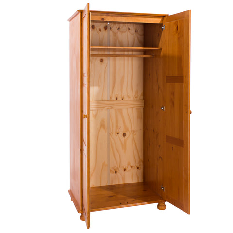 Sorento 2 Door Wardrobe with Hanging Rail & Shelf