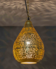 Image of Agadir Gold Two - Pendant Light Balloon Large Gold Rice Etching