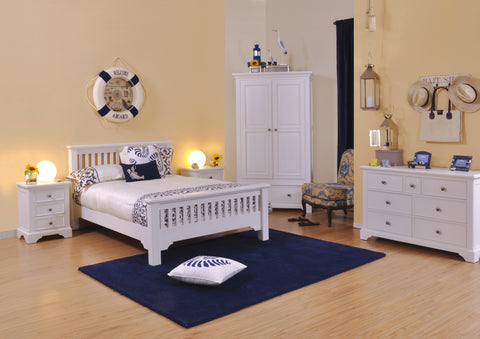 Aspen White Painted 4ft 6in High Foot Bed