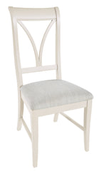 Pair Of Canterbury Painted Ivory Dining Chairs