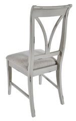 Pair Of Canterbury Painted Grey Dining Chairs
