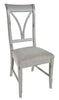 Image of Pair Of Canterbury Painted Grey Dining Chairs