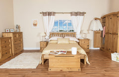 Corona  Pine Double High End Bed