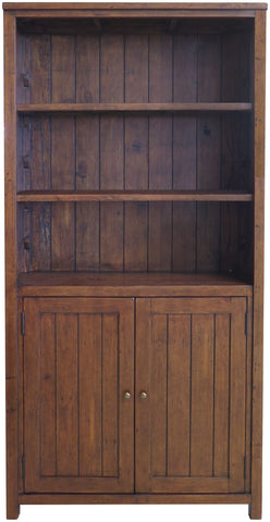 Travis Reclaimed large Pine Cupboard Bookcase