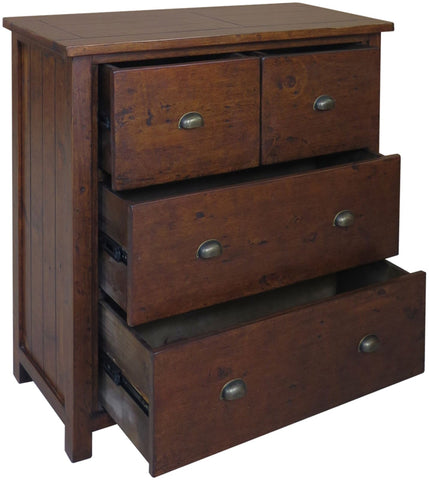 Travis Reclaimed Pine 2 over 2 Chest of Drawers