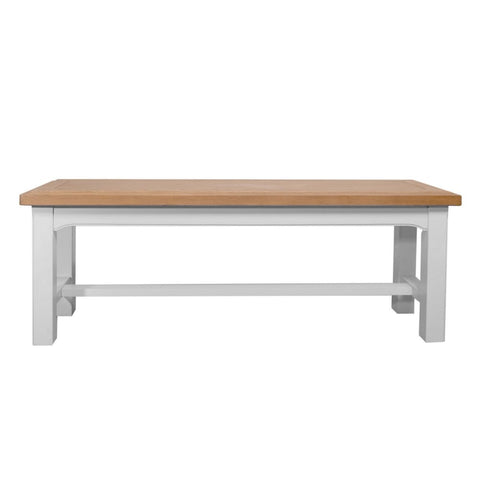 Cadiz Oak painted bench