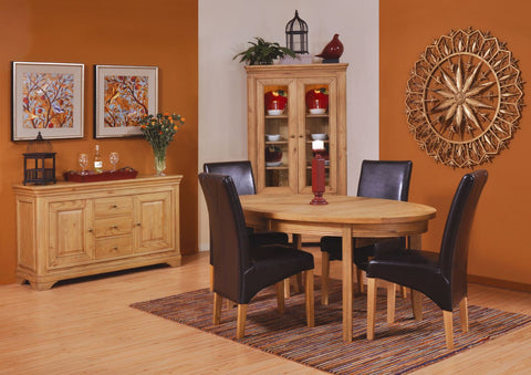 Loire Round Extending Oak Pedestal Table