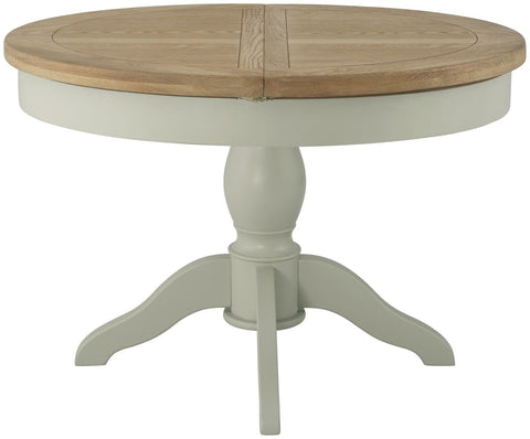 Astoria Stone Grand Round Butterfly Extending Dining Table