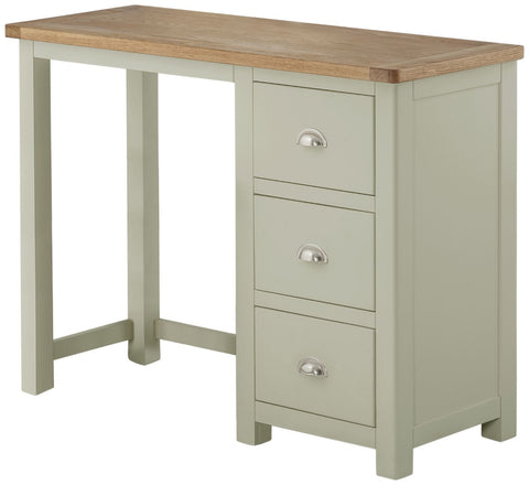 Astoria Single Pedestal Dressing Table-stone