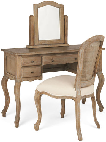 Malmaison Limed Oak Dressing Table Curved Front