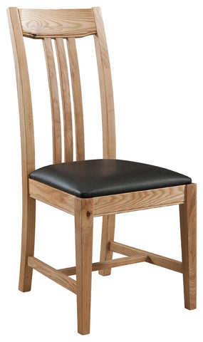 Pair of Montana Oak Dining Chair with PU Seat Pad