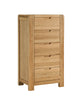 Image of Sola Scandinavian Oak Five Drawer Wellington