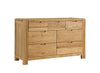 Image of Sola Scandinavian Oak Three Over Four Drawer Chest
