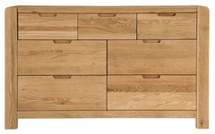 Sola Scandinavian Oak Three Over Four Drawer Chest