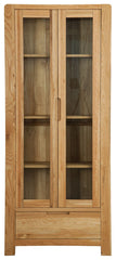 Sola Scandinavian Oak Two Door Display Unit