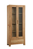Image of Sola Scandinavian Oak Two Door Display Unit