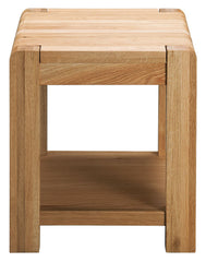 Sola Scandinavian Oak Lamp Table