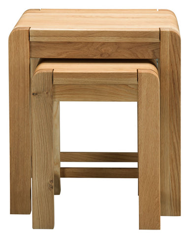 Sola Scandinavian Oak Nest of Two Tables