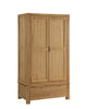 Image of Sola Scandinavian Oak Two Door Gent's Wardrobe