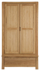 Sola Scandinavian Oak Two Door Gent's Wardrobe