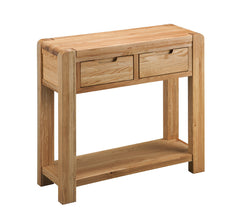 Sola Scandinavian Oak Console Table