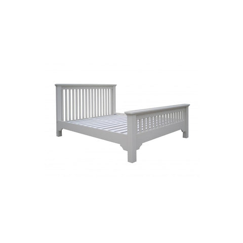 Aspen White 5ft High Foot Bed