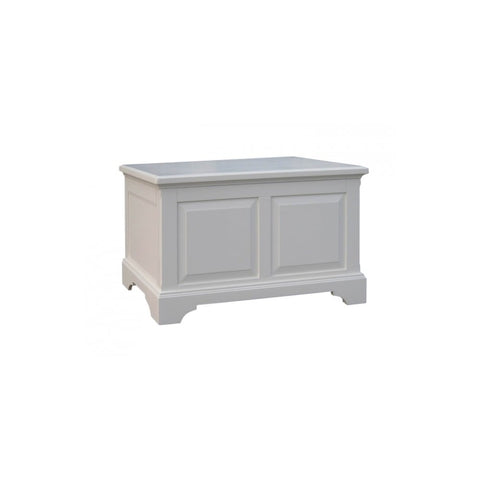 Aspen White Painted Blanket Box