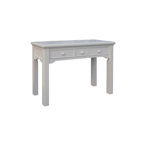 Aspen White Painted Dressing Table with Three Drawers
