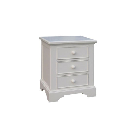 Aspen White Painted Three-Drawers Bedside