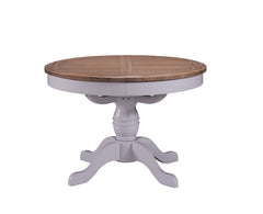 Cadiz Oak and Pine Round Extending Table