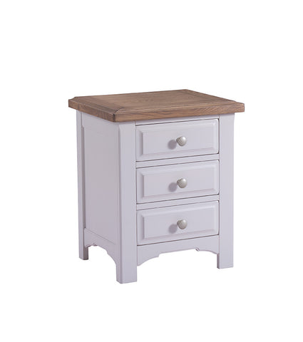 Cadiz Oak and Pine Three Drawer Bedside