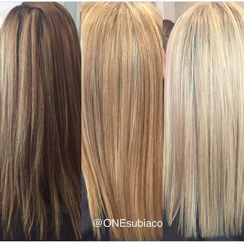 brunette to blonde subiaco hair salon