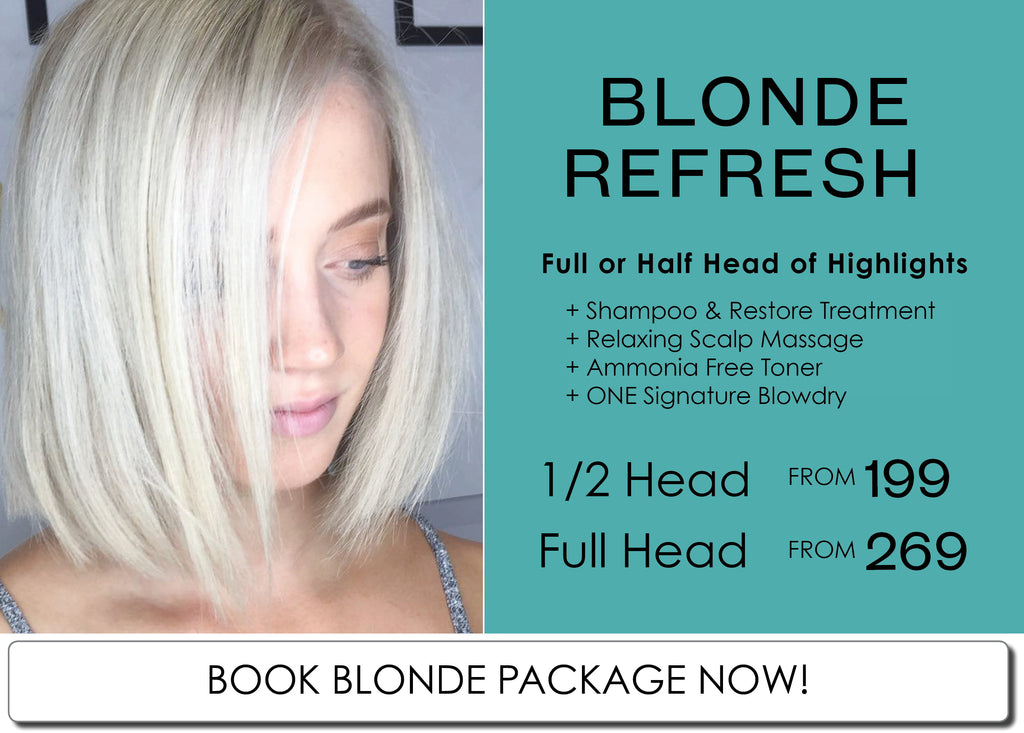 Perth Blonde Specialist Salon August Blonde Package Special