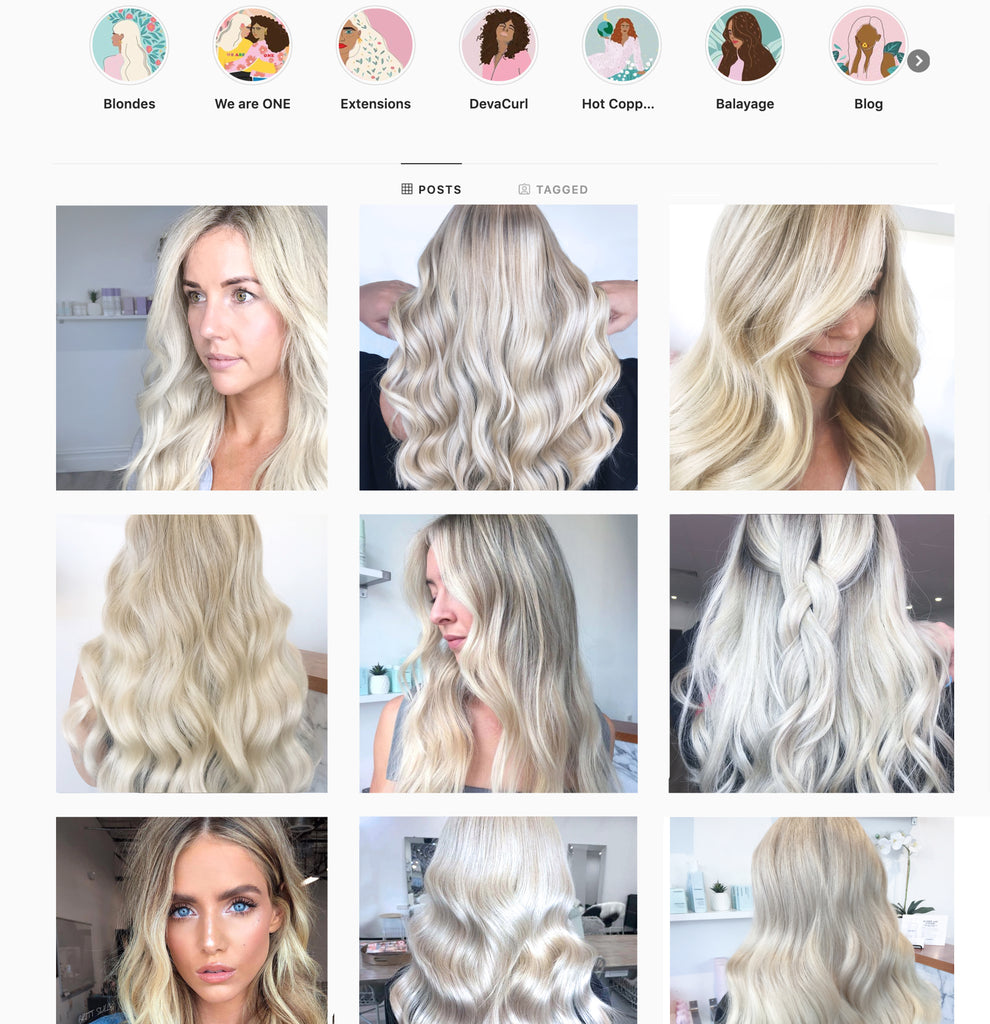 Perth Blonde Specialist Salon Instagram