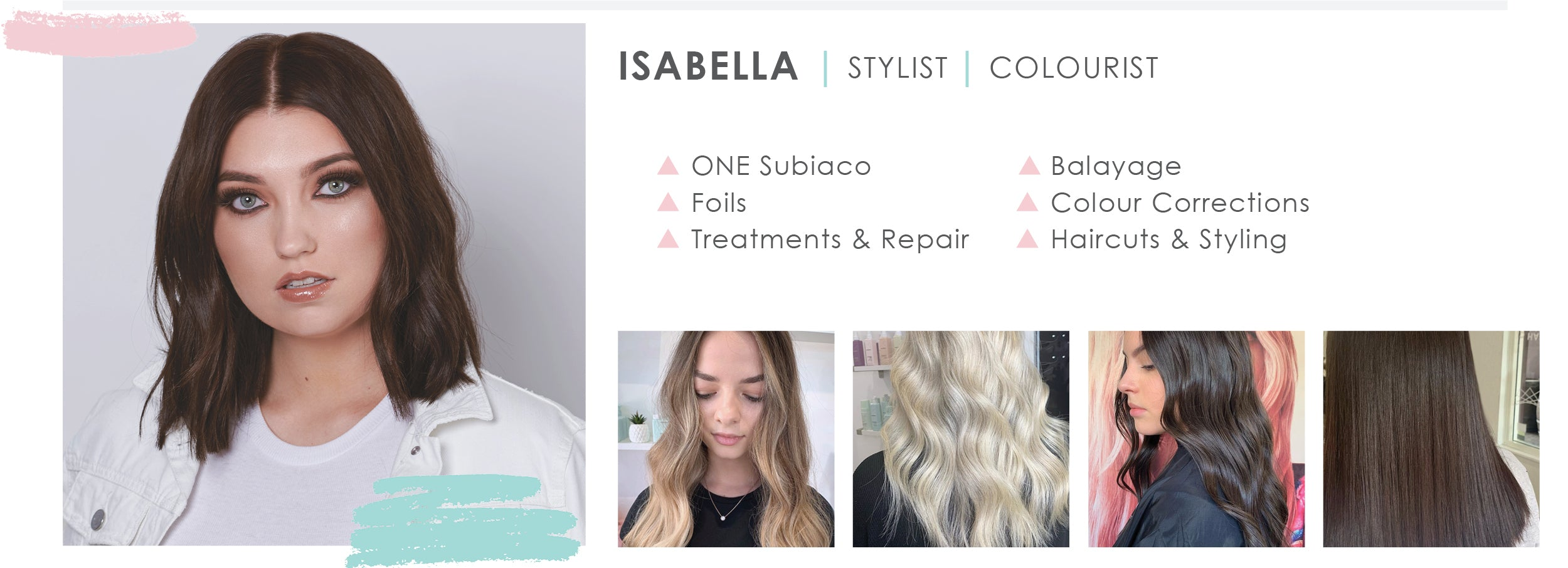 ABOUT Isabella ONE Subiaco Hair Salon Stylist and Colourist Perth