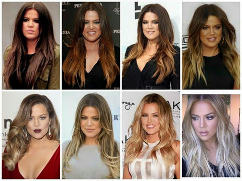 Khloe-Kardashian-Hair-Transformation-Dark-Brown-to-Platinum-Blonde-colour-transition
