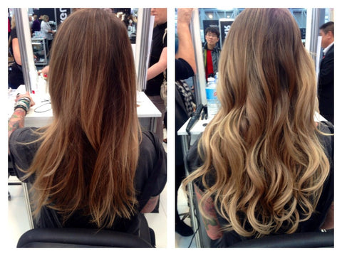 Ombre look created with Showpony Tape Extensions
