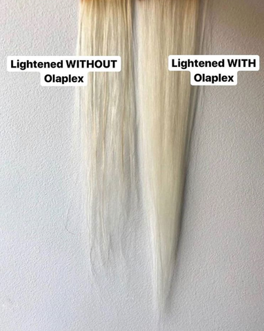 Lightened with Olaplex vs Lightened without