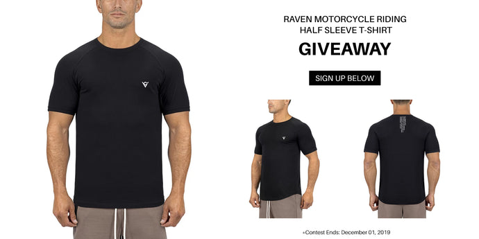 Viking Cycle Raven Motorcycle Riding Half Sleeve T-Shirt Giveaway