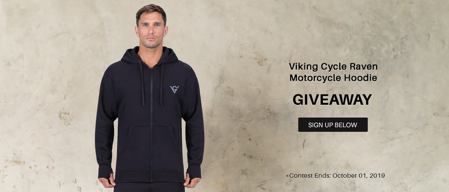 Viking Cycle Raven Riding Zip-Up Hoodie Giveaway
