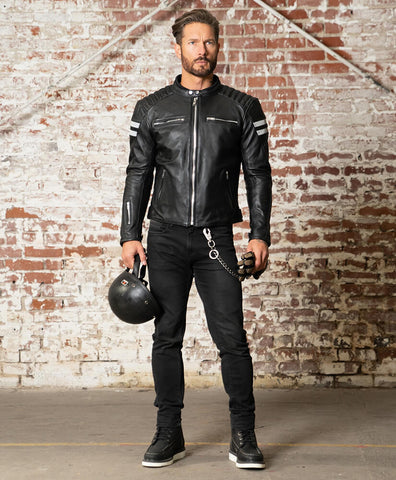 Honda Motorcycle Leather Jacket CE Approved Full Protection Male Female