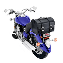 Nomad USA Leather Black Motorcycle Sissy bar Bag