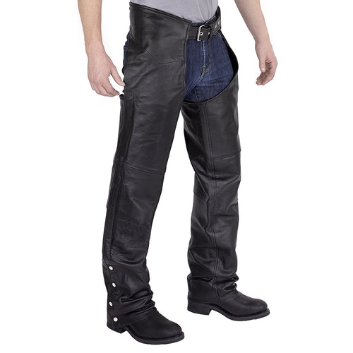 Viking Cycle/Nomad USA Plain Leather Motorcycle Chaps