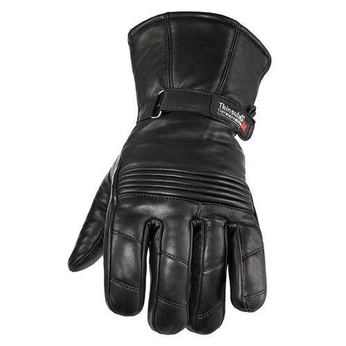 Viking Cycle Gauntlet Motorcycle Leather Glove for Men