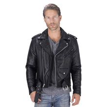 Nomad USA Classic Leather Biker Jacket