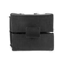 Nomad USA Slanted Black Leather Motorcycle Medium Saddlebags with Buckles