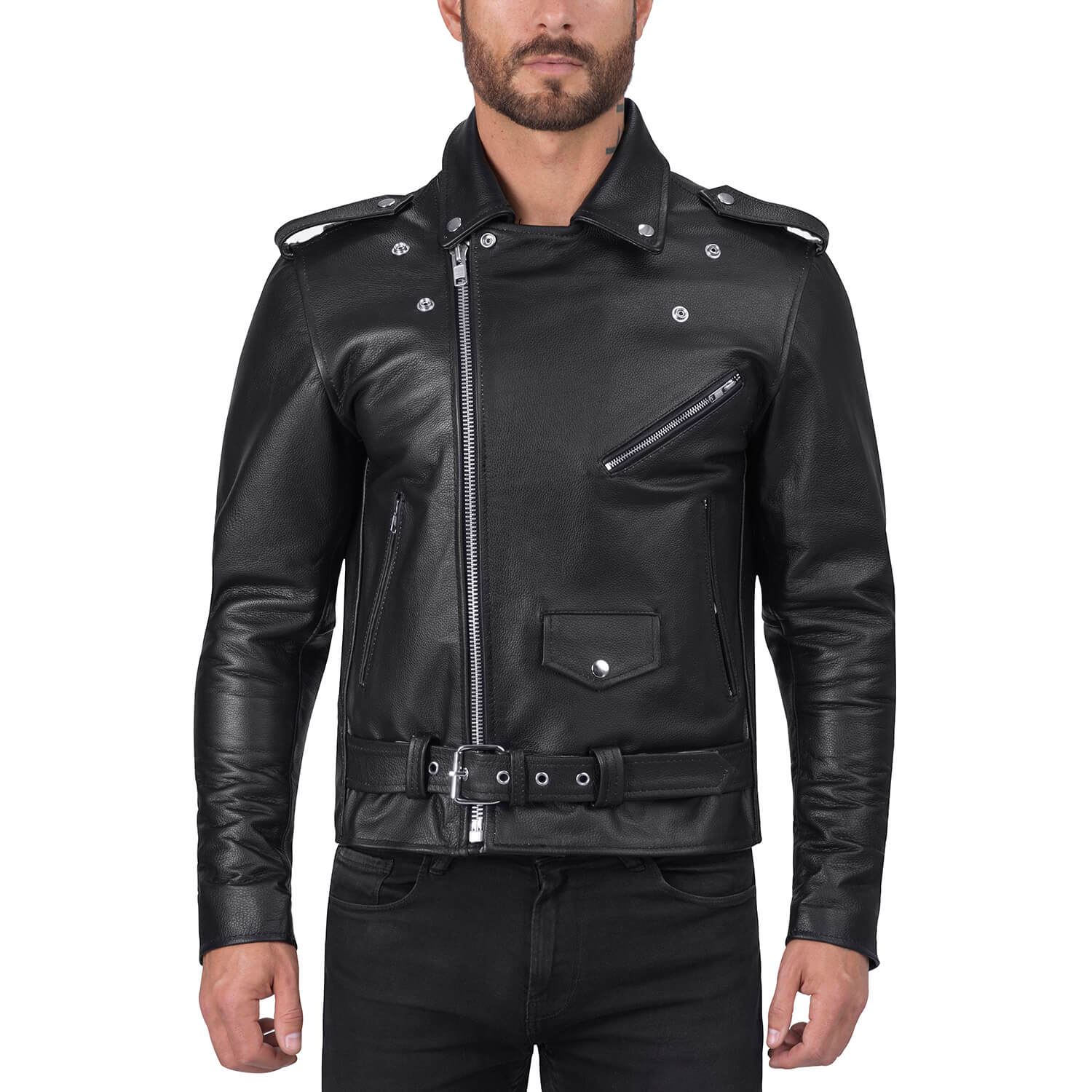 Angel Fire Men S Motorcycle Leather Jacket Viking Cycle
